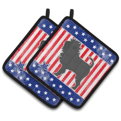 Affenpinscher Pot Holders - USA (Pair)