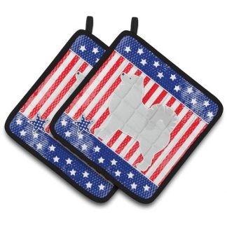 Samoyed Pot Holders - USA (Pair)