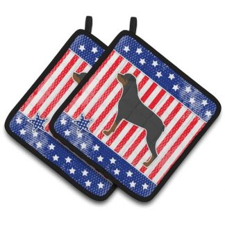 Rottweiler Pot Holders - USA (Pair)