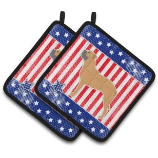 Bullmastiff Pot Holders - USA (Pair)