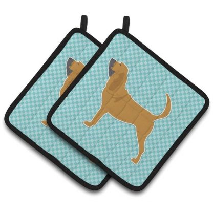 Bloodhound Pot Holders - Blue (Pair)