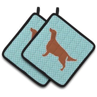 Irish Setter Pot Holders - Blue (Pair)