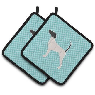 Pointer Pot Holders - Blue (Pair)