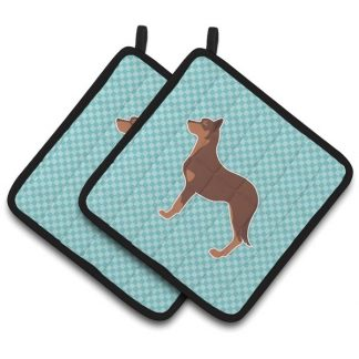 Australian Kelpie Pot Holders - Blue (Pair)