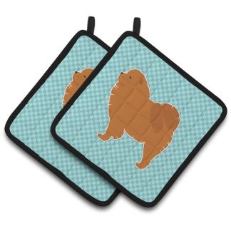 Chow Chow Pot Holders - Blue (Pair)