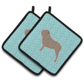 Neapolitan Mastiff Pot Holders - Blue (Pair)