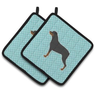 Rottweiler Pot Holders - Blue (Pair)
