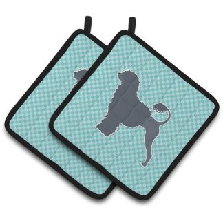 Portuguese Water Dog Pot Holders - Blue (Pair)