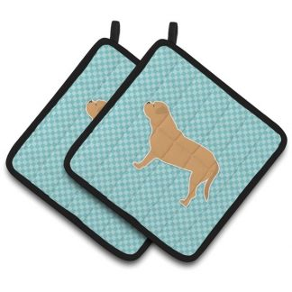 Dogue de Bordeaux Pot Holders - Blue (Pair)