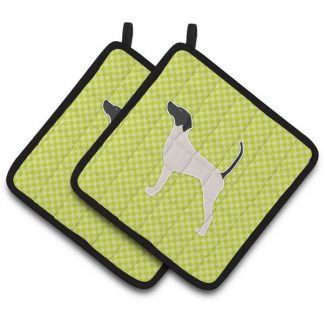 Pointer Pot Holders - Green (Pair)