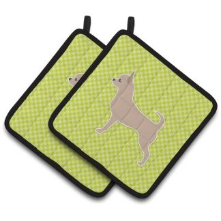 Chihuahua Pot Holders - Green (Pair)