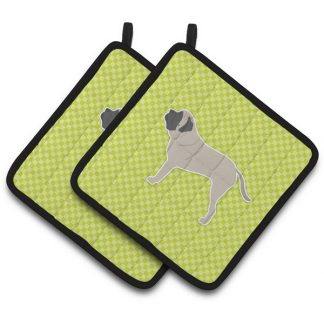 Mastiff Pot Holders - Green (Pair)