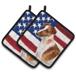 Smooth Fox Terrier Pot Holders - USA (Pair)