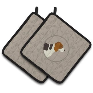 Beagle Pot Holders - Classy Kitchen (Pair)