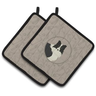 Border Collie Pot Holders - Classy Kitchen (Pair)