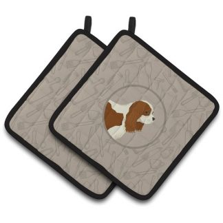 Cavalier Spaniel Pot Holders - Classy Kitchen (Pair)