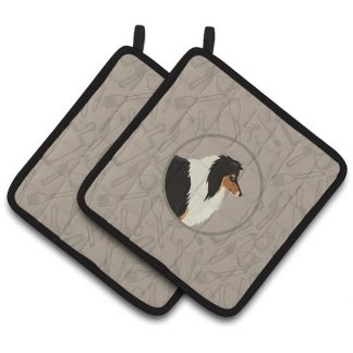 Collie Pot Holders - Classy Kitchen (Pair)