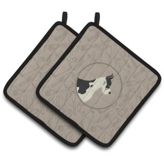 Great Dane Pot Holders - Classy Kitchen (Pair)