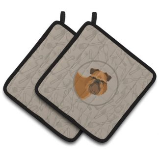 Brussels Griffon Pot Holders - Classy Kitchen (Pair)