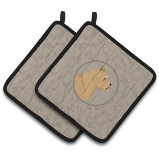 Norwich Terrier Pot Holders - Classy Kitchen (Pair)
