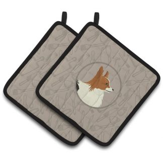 Papillon Pot Holders - Classy Kitchen (Pair)