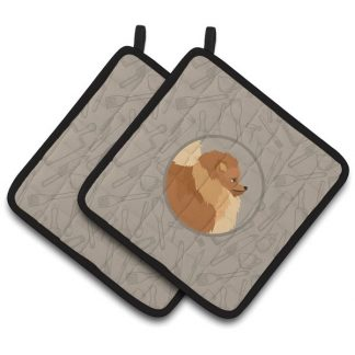 Pomeranian Pot Holders - Classy Kitchen (Pair)