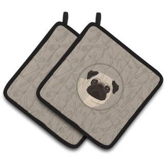 Pug Pot Holders - Classy Kitchen (Pair)