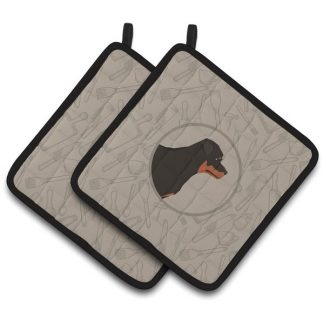 Rottweiler Pot Holders - Classy Kitchen (Pair)