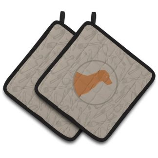 Vizsla Pot Holders - Classy Kitchen (Pair)