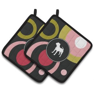 Pitbull Terrier Pot Holders (Pair)