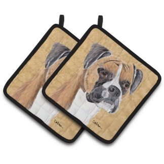 Boxer Pot Holders - Uncropped (Pair)