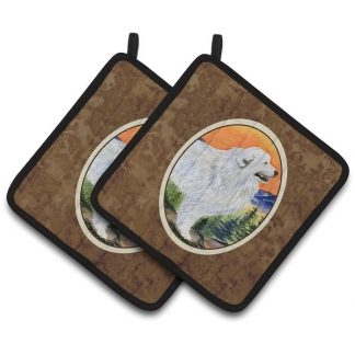 Great Pyrenees Pot Holders (Pair)