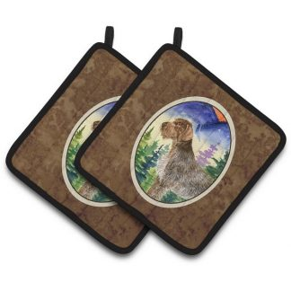 German Wirehair Pointer Pot Holders (Pair)