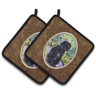 Portuguese Water Dog Pot Holders (Pair)