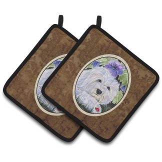 Coton de Tulear Pot Holders (Pair)