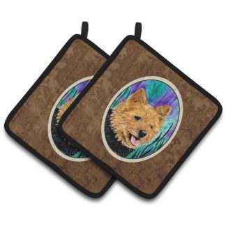 Norwich Terrier Pot Holders (Pair)