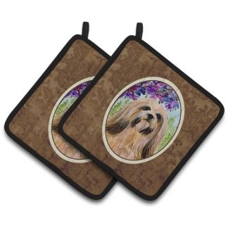 Lhasa Apso Pot Holders (Pair)
