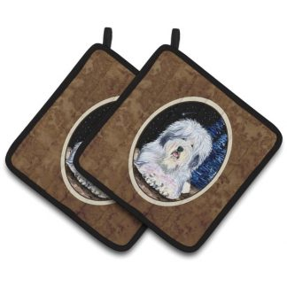 Old English Sheepdog Pot Holders II (Pair)