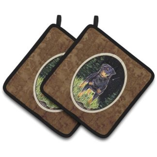 Rottweiler Pot Holders II (Pair)