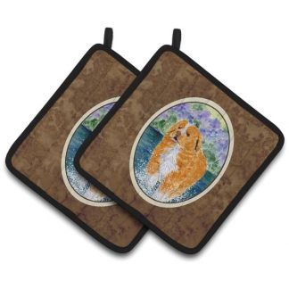 Nova Scotia Duck Toller Pot Holders (Pair)