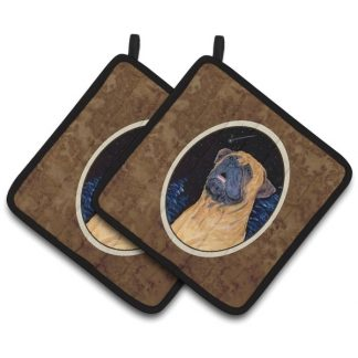 Bullmastiff Pot Holders (Pair)
