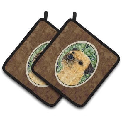 Border Terrier Pot Holders (Pair)