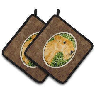 Lakeland Terrier Pot Holders (Pair)