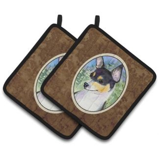 Rat Terrier Pot Holders (Pair)