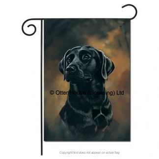 Black Lab Flag - Pickering (Garden)
