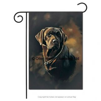 Chocolate Lab Flag - Pickering (Garden)