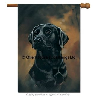 Black Lab Flag - Pickering (Large)