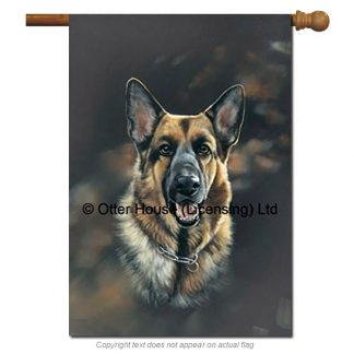 German Shepherd Flag - Pickering (Large)