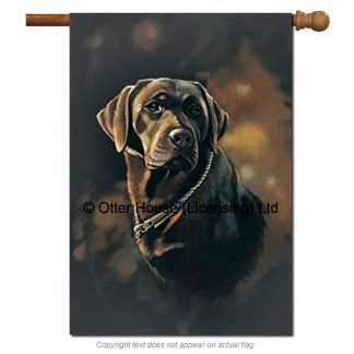 Chocolate Lab Flag - Pickering (Large)