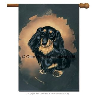 Longhaired Dachshund Flag - Pickering (Large)